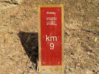 Fita en el Qm. 9 del Camí Natural de L'Anell Verd de Sant Boi