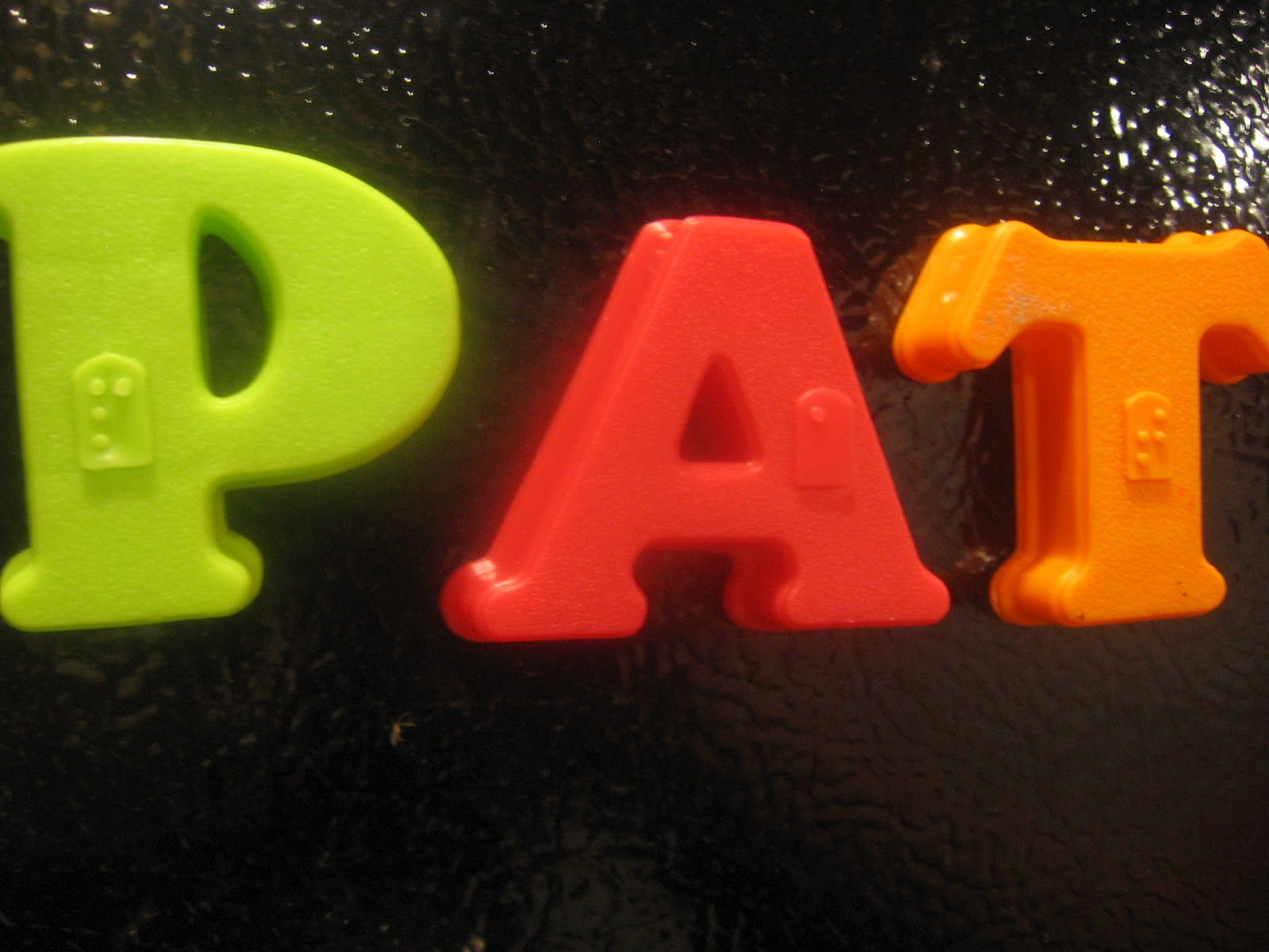 We also have a set of magnetic letters that have the braille