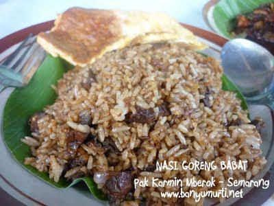 Kuliner Semarang - Nasi Goreng Babat Pak Karmin, Mberok