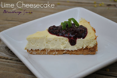 The Farm Girl Recipes: Lime Cheesecake with Blackberry Sauce