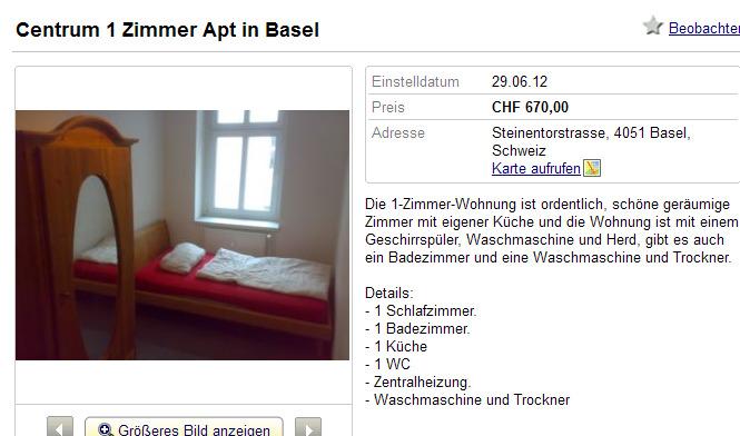 Zurich Wohnung Mieten