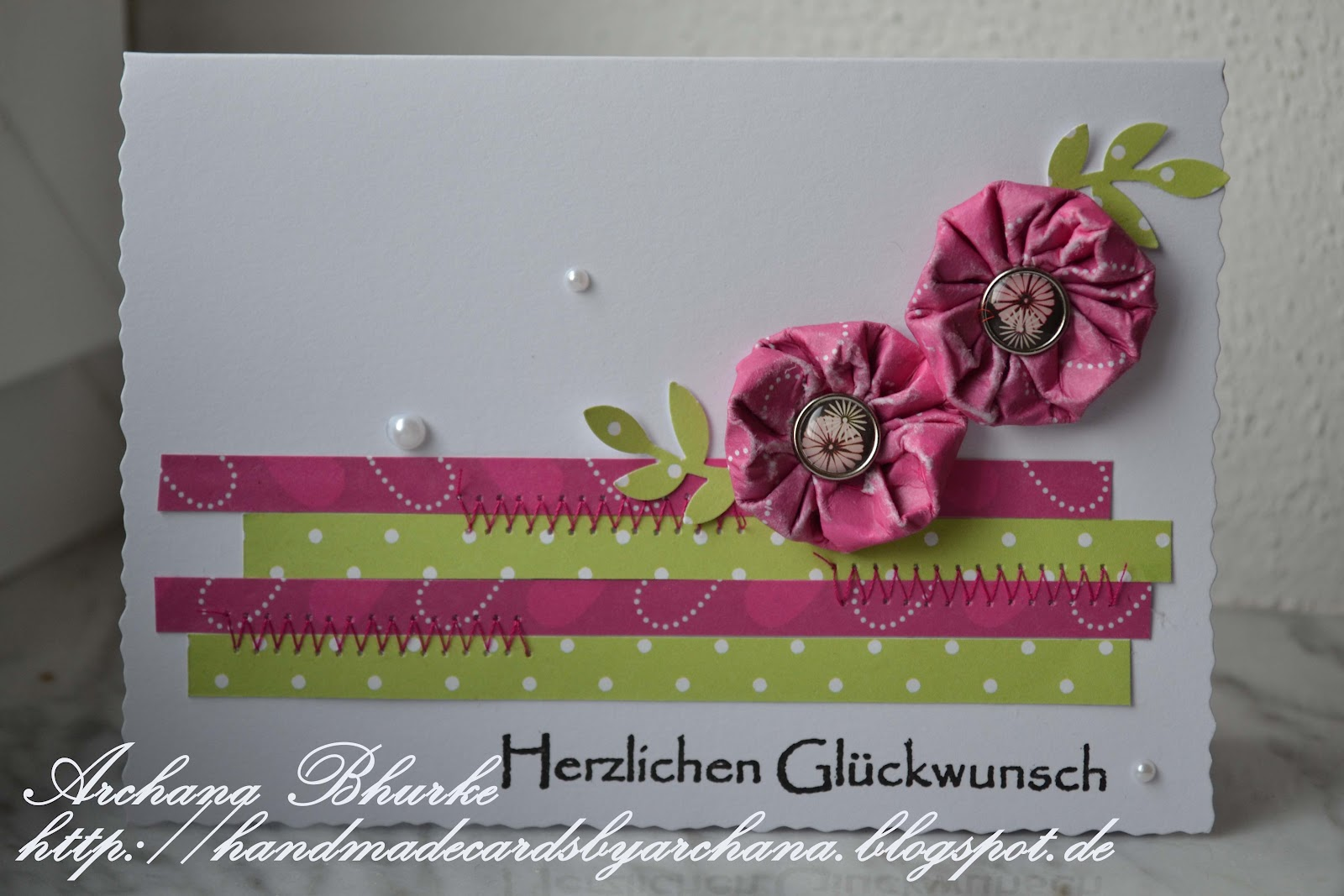 Handmade Cards By Archana Patterned Paper Flowers