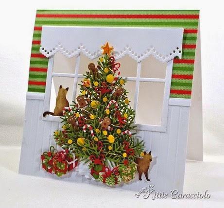 Creative Mayhem: Christmas Tree Card inspired by Kittie Caracciolo