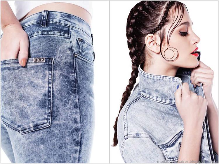 Moda jeans Complot 2015 con Oriana Sabatini.