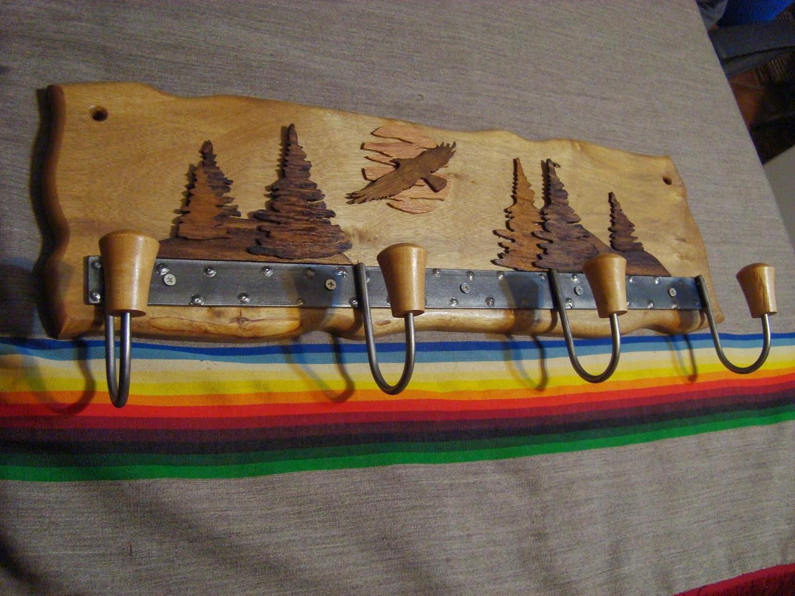 El olivo artesanias decoracion nuevos productos y modelos - Percheros de madera rusticos ...