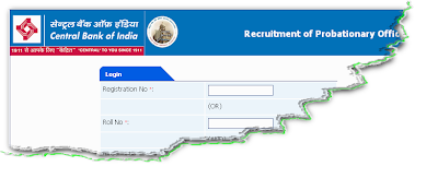 Central Bank of India PO Recruitment 2012 Online Form