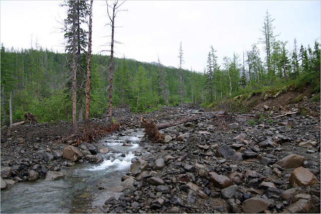 Taimyr-Poxod-Glubokoe-Kyltellar-Bugar-Ekekoy-Река Экэкой
