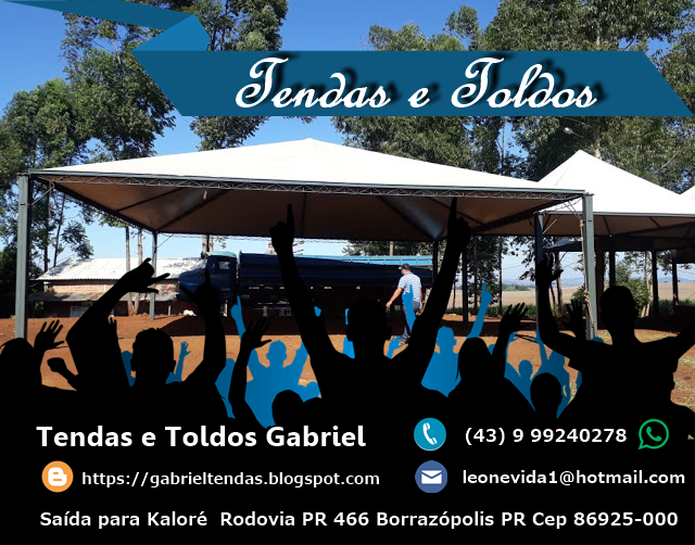 TENDAS E TOLDOS GABRIEL Clique na Foto