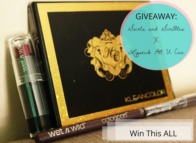 Blog Giveaway: Swirls and Scribbles X Lipstick All U Can