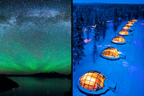 The Northern Lights from Finland