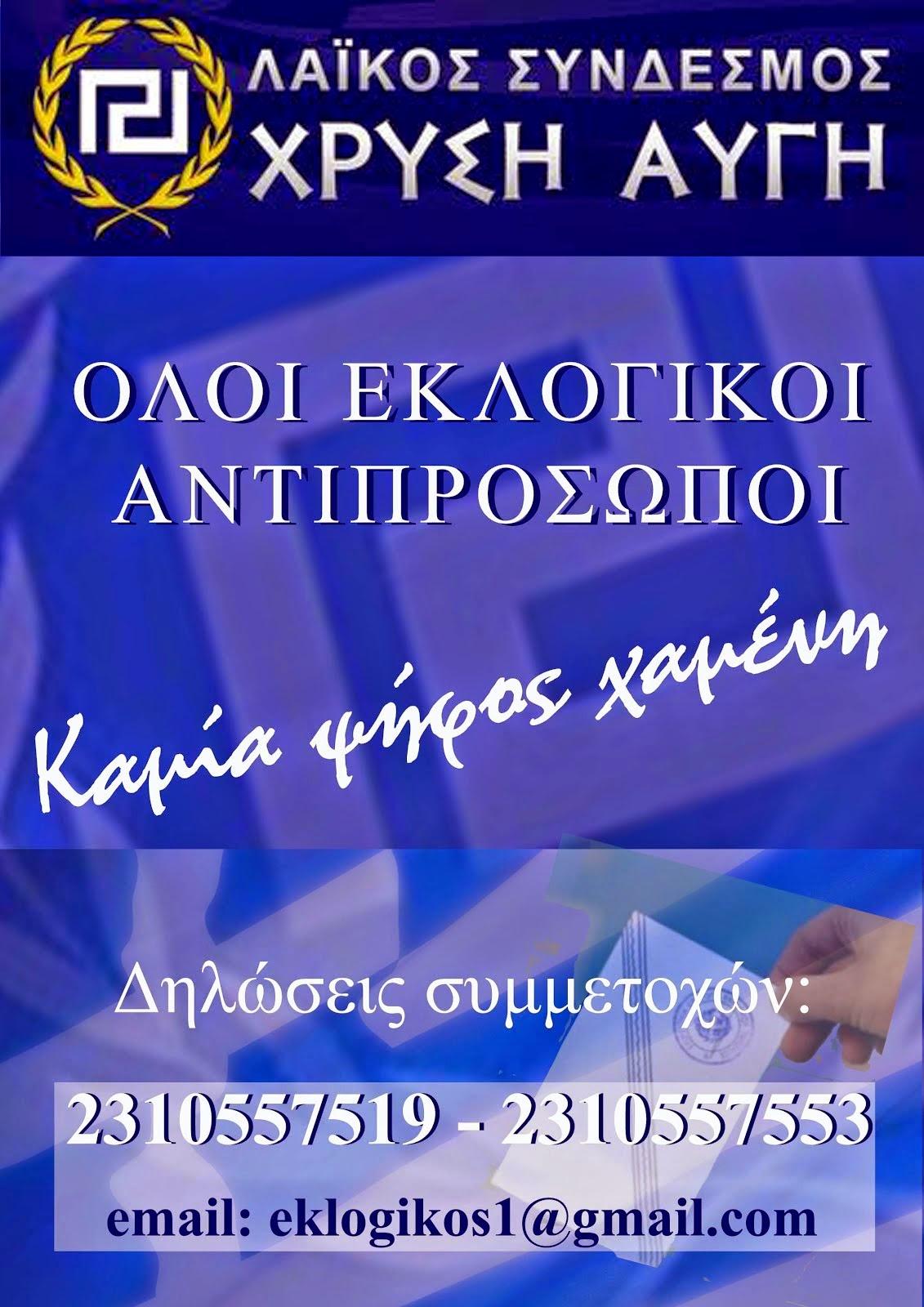 ΕΚΛΟΓΙΚΟΙ ΑΝΤΙΠΡΟΣΩΠΟΙ