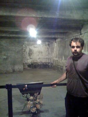 Cámara de gas reconstruida Auschwitz-birkenau