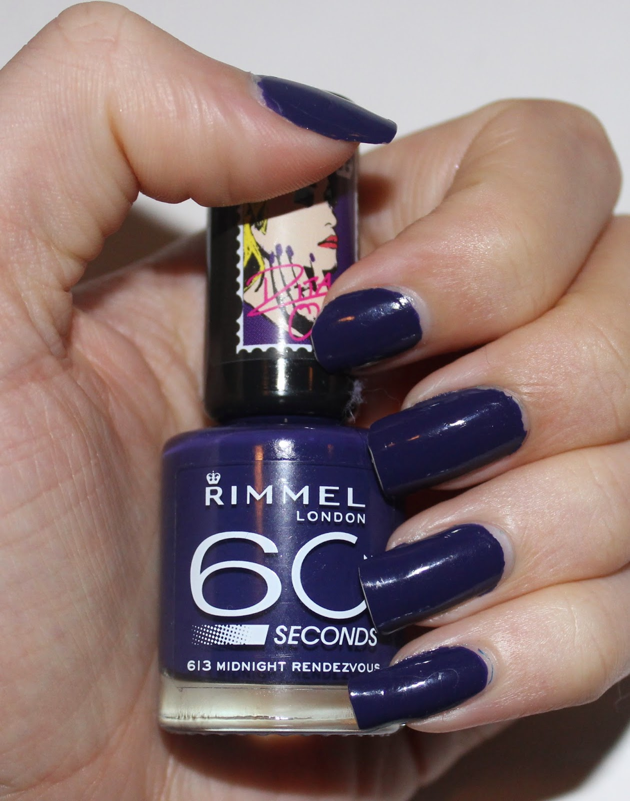 Rimmel London x Rita Ora 60 Seconds Nail Polish in Midnight Rendezvous