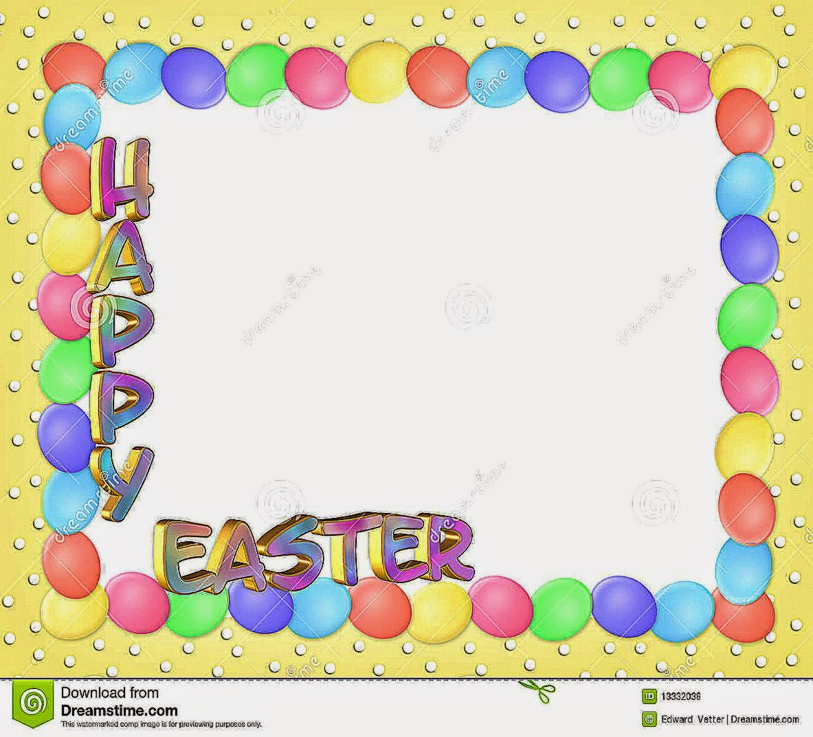 Easter Border Eggs 3D Text Royalty Free Stock Photography   Image