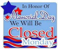 Unusual image for closed memorial day sign printable