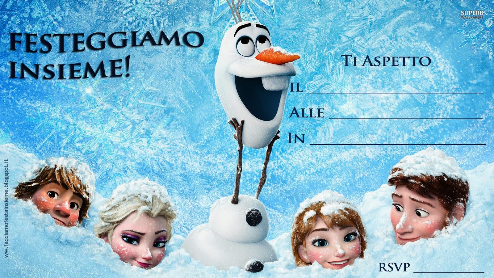 Conosciuto Frozen - La Regina del ghiaccio. Inviti di compleanno da stampare  XL18
