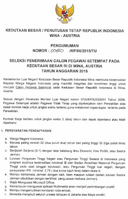 Lowongan kerja resmi kedutaan besar republik indonesia t