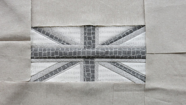 Paper piecing - Union Jack block