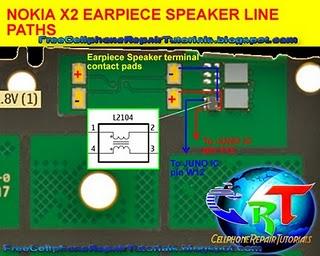 x2 earpiece speaker line