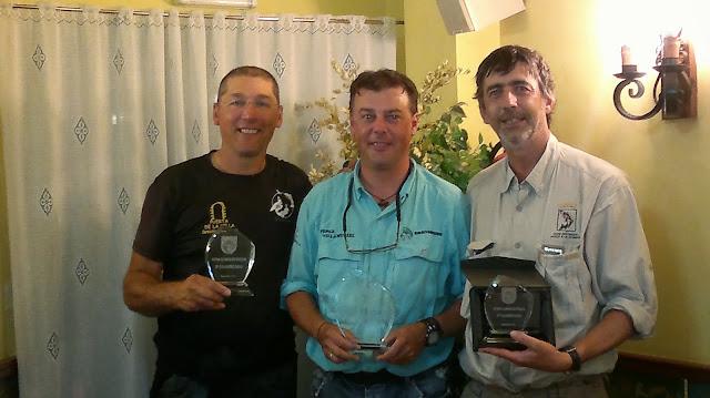 Imagen de los tres primeros clasificados