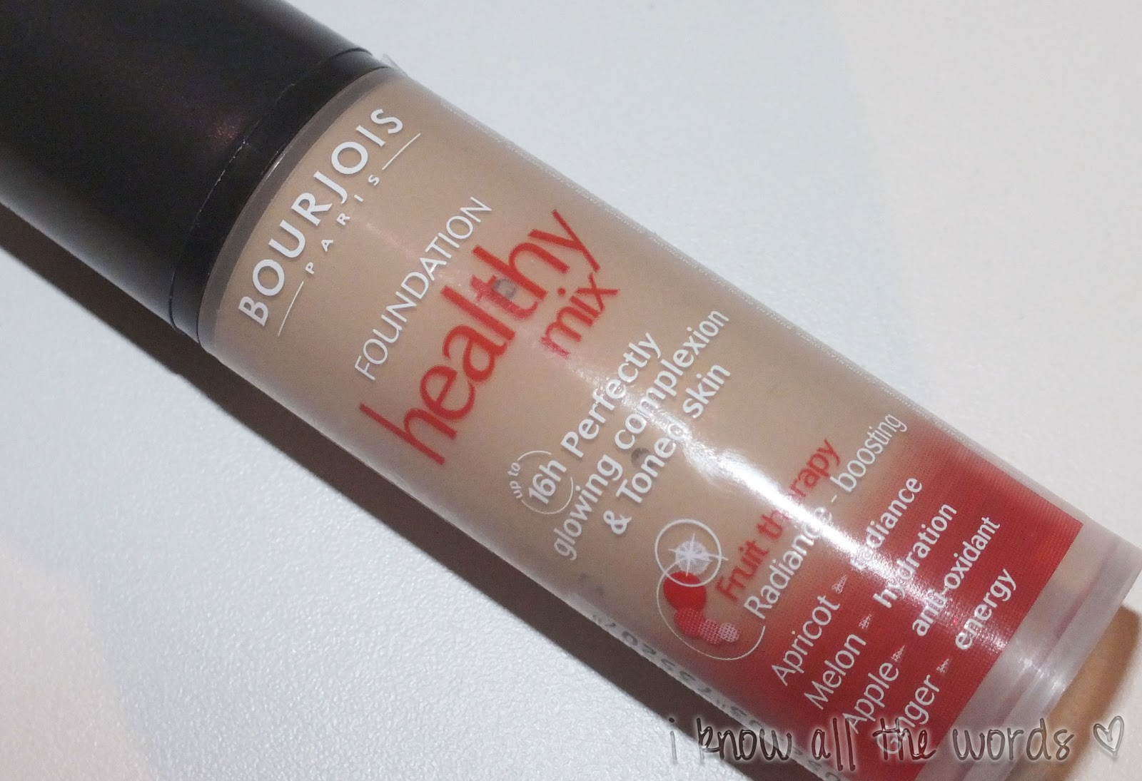 review bourjois healthy mix foundation i know all the words. Black Bedroom Furniture Sets. Home Design Ideas