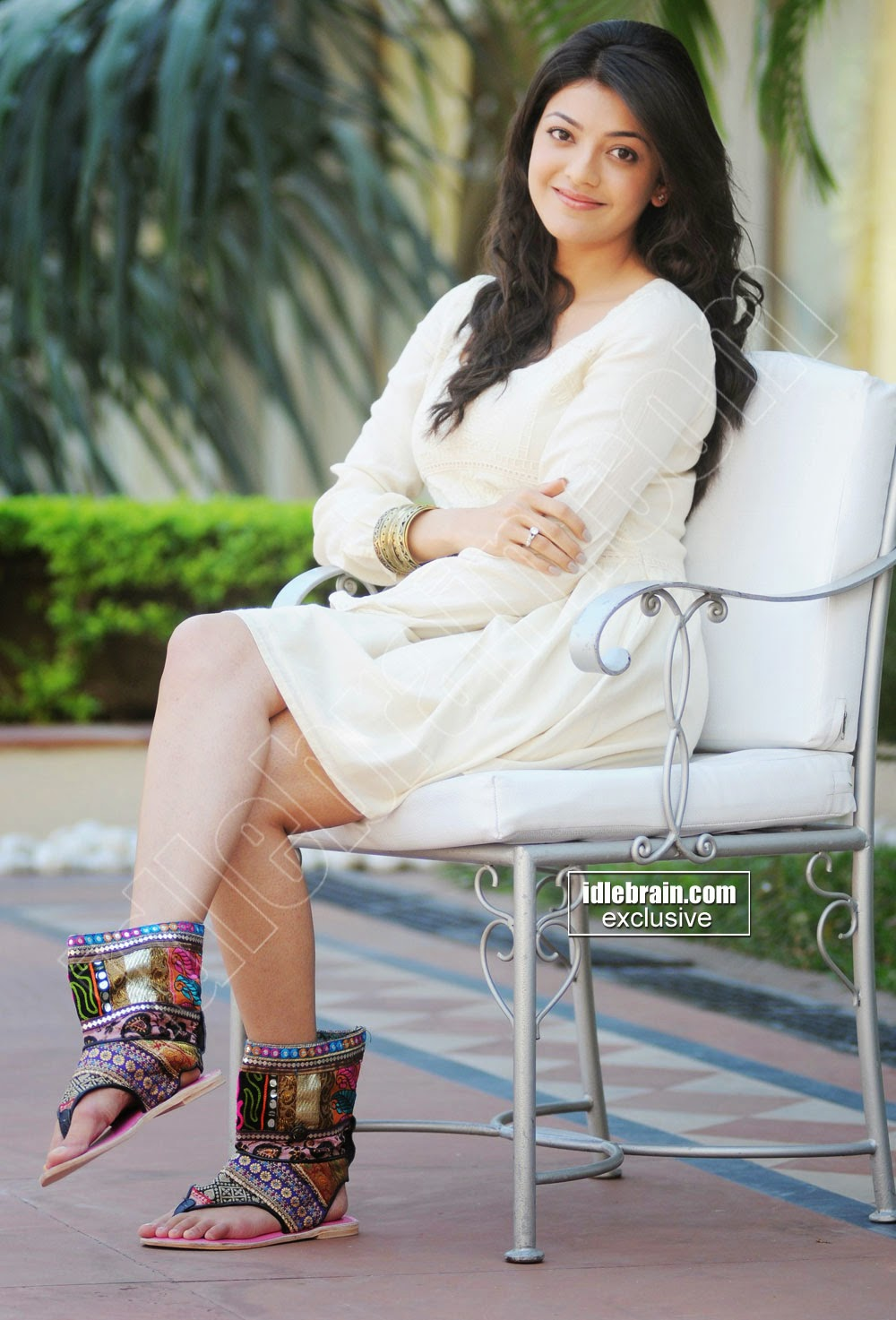 Kajal Agarwal cute white