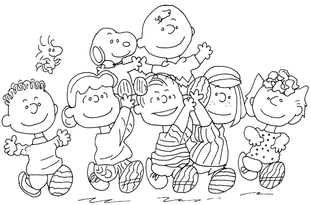 Free Printable Coloring Pages For The Whole Gang Of Peanuts