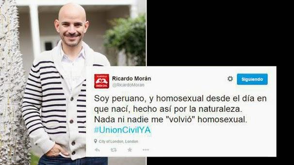 Ricardo Morán admitió homosexualidad