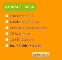 Package Gold Anekahosting.com ,