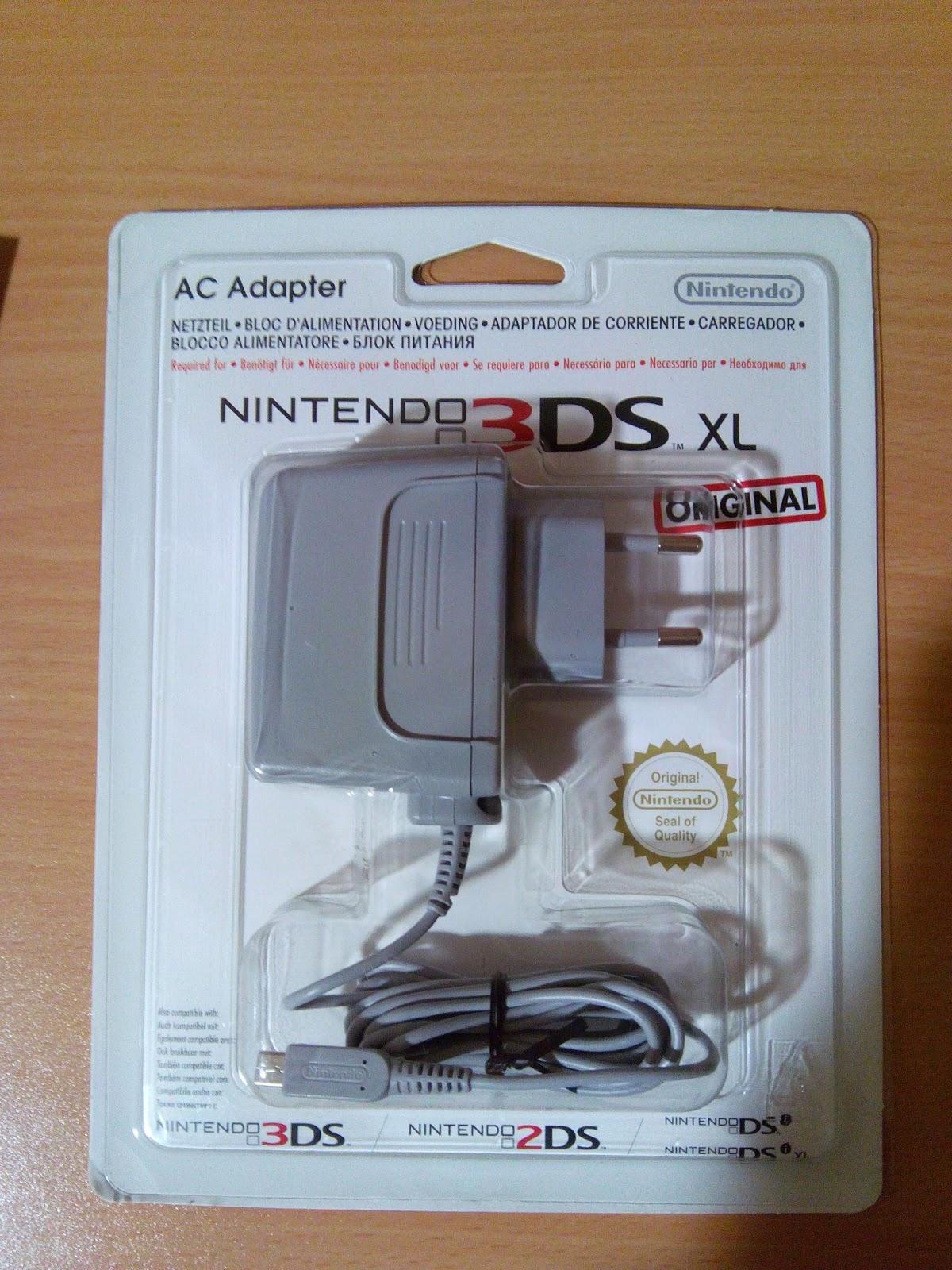 El cargador de New Nintendo 3DS Xl que Nintendo no incluye