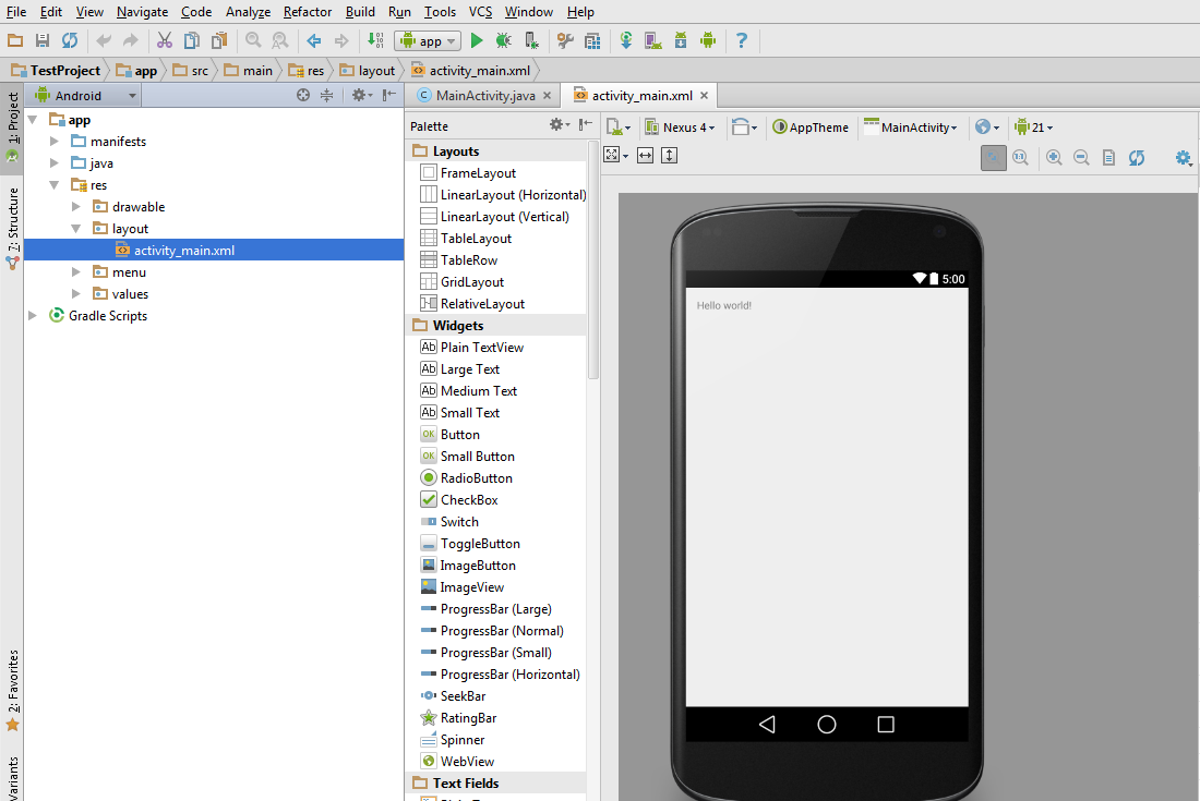 Android Studio - IDE Screenshot