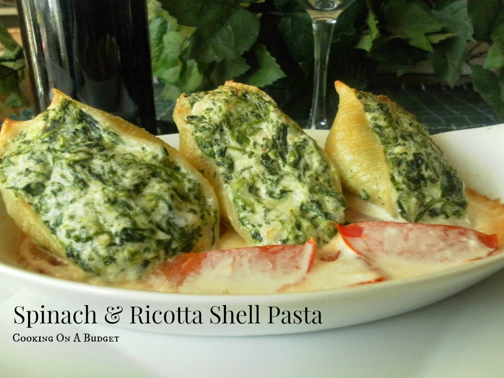 Cooking On A Budget: Spinach and Ricotta Shell Pasta