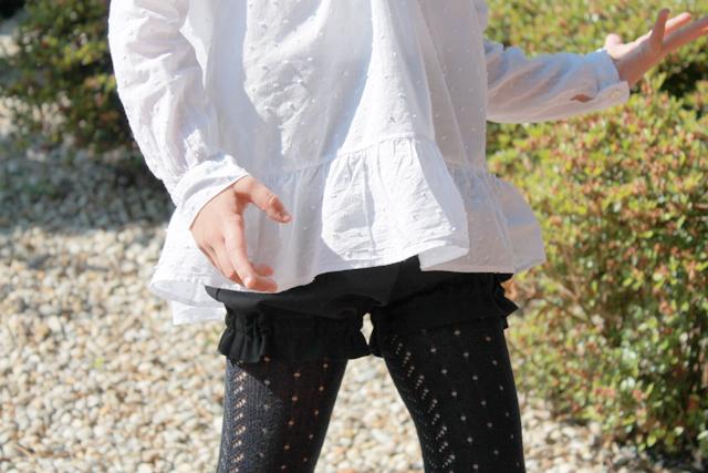 short bombacho niña azul marino gomas en la pierna trendy children