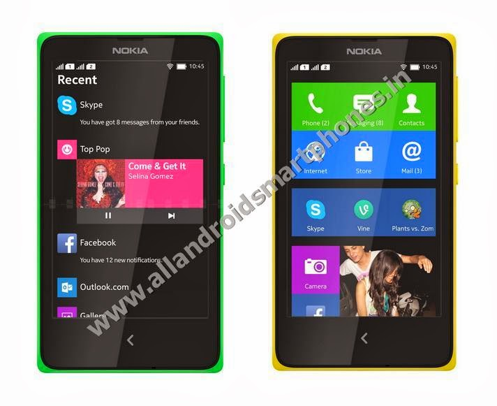 Nokia X Dual Sim Android Smartphone Front Side Bright Green Yellow All Colors Images Photos Review