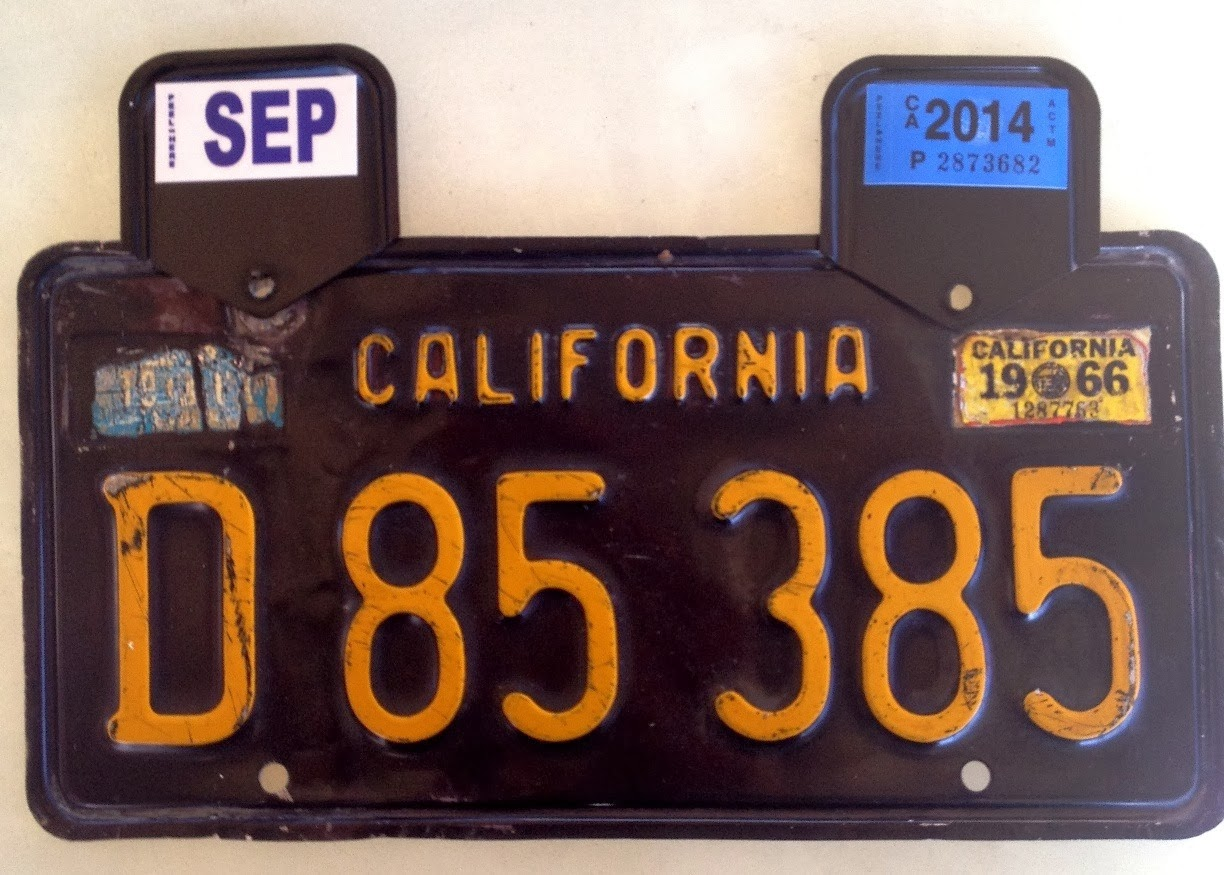 OLE BLUE: Old EBAY License Plate Accepted by CA-DMV