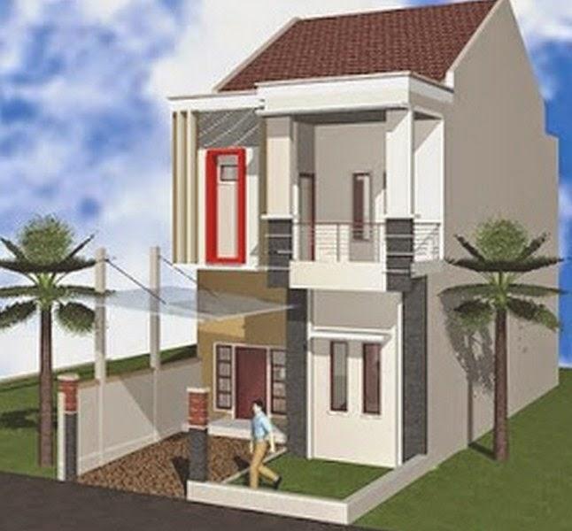 contoh desain rumah type 36 minimalis 2 lantai gambar
