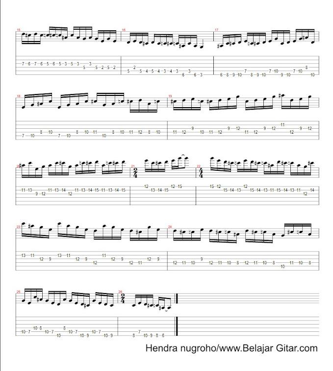 latihan blues mayor G - page 2
