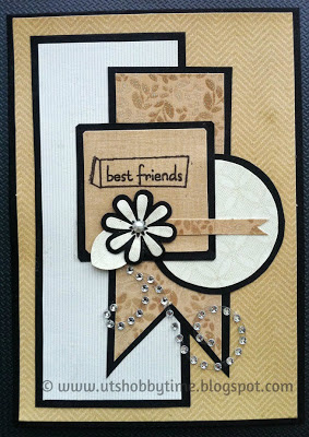 Handmade greeting card for friendship day