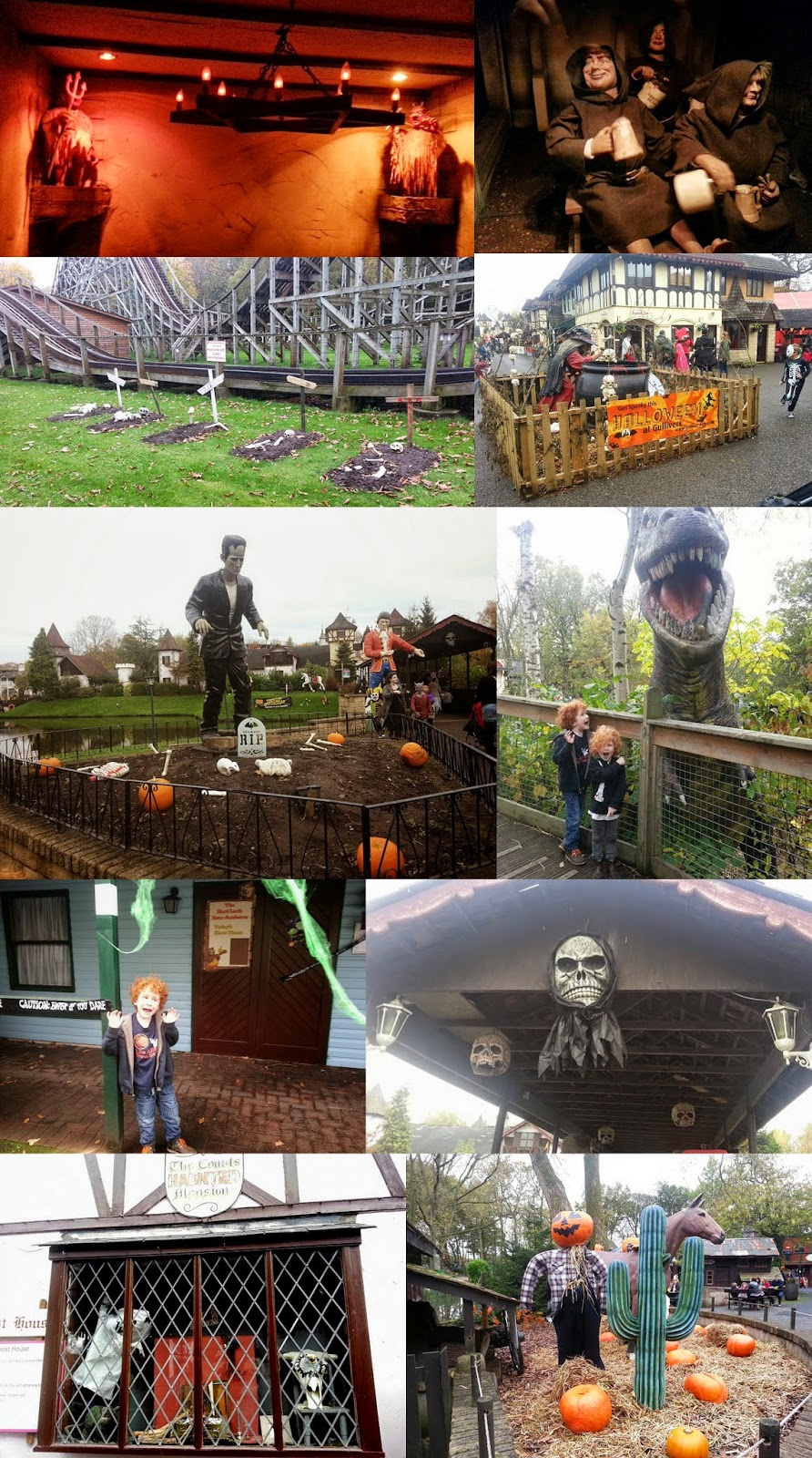 Gulliver's World Warrington review Halloween decorations and haunted house