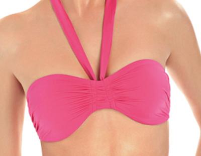 Triumph vállpánt nélkül hordható pink bikini felső