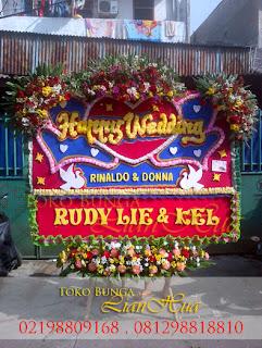 Karangan Bunga Papan Wedding / pernikahan jakarta