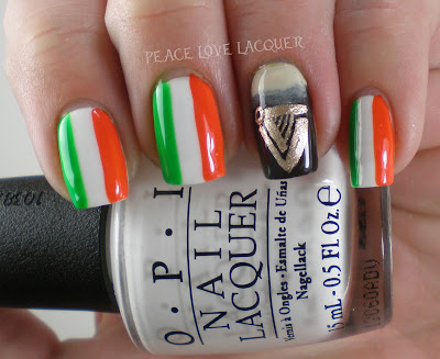 St Patty's Day, St Paddy's Day, St Patrick's Day, Nail Art, Irish Flag, Guinness beer