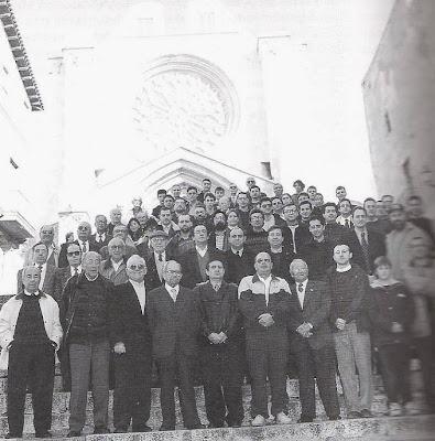 50º Aniversario del Club Ajedrez Tarragona, foto en la Catedral en 1997
