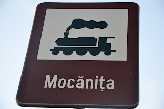Semn la intrarea in gara - Viseu de Sus - Mocanita