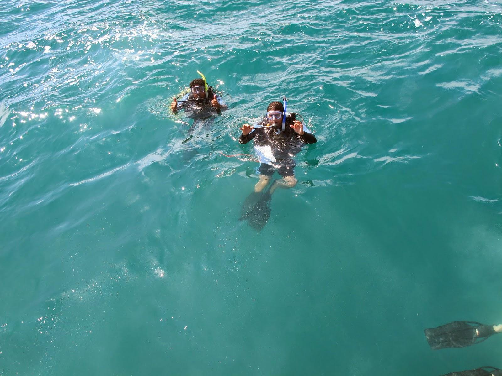 open water students in the ocean
