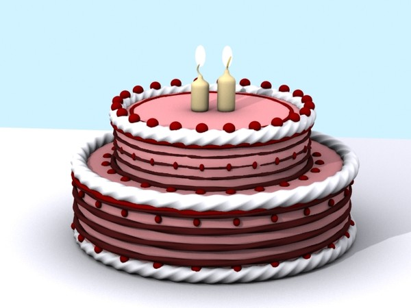 Cake Images In 3d : 3d Birthday Cake 3d Cake Image