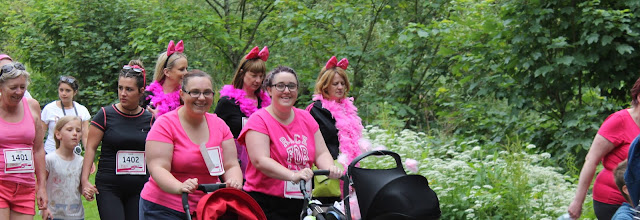 Race for life cwmbran 2015 with pushchairs