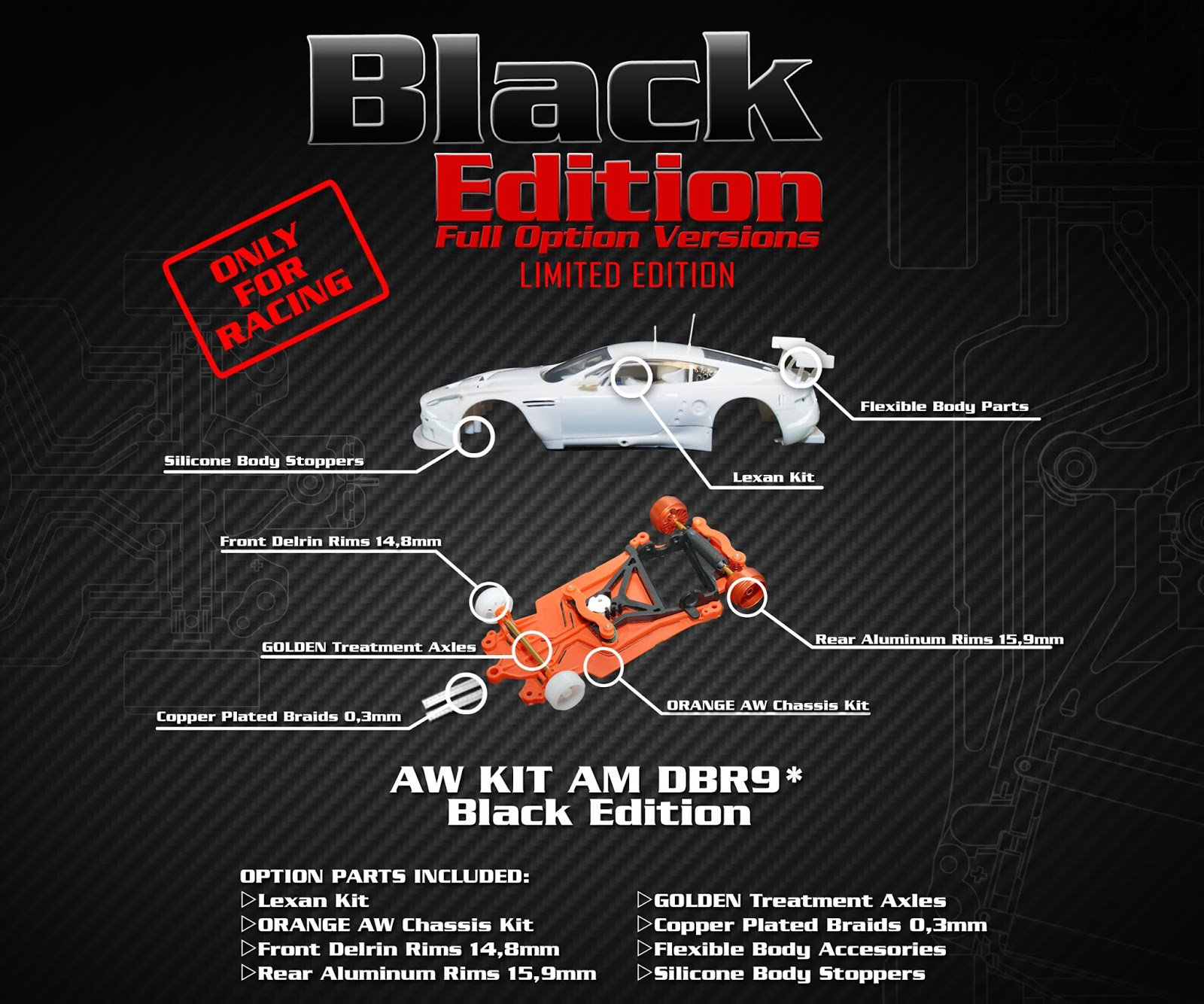 Manicslots slot cars and scenery 2013 black arrow have released a high performance black version of their already impressive track performing aston martin dbr9 the upgrade including the aloadofball Images