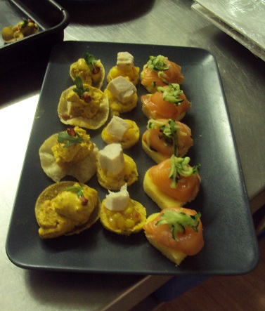 The cotswold food year gluten free canap bases smoked for Gluten free canape