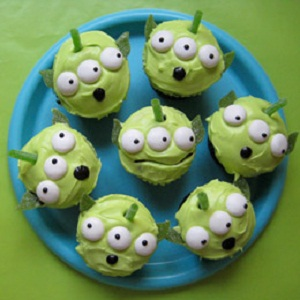 The Cupcake Cupcakes Toy Story Green Alien Heroes Movie Kids Party